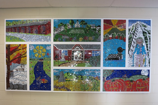 Lyme School Mosaics in school entryway. Grades K- 12